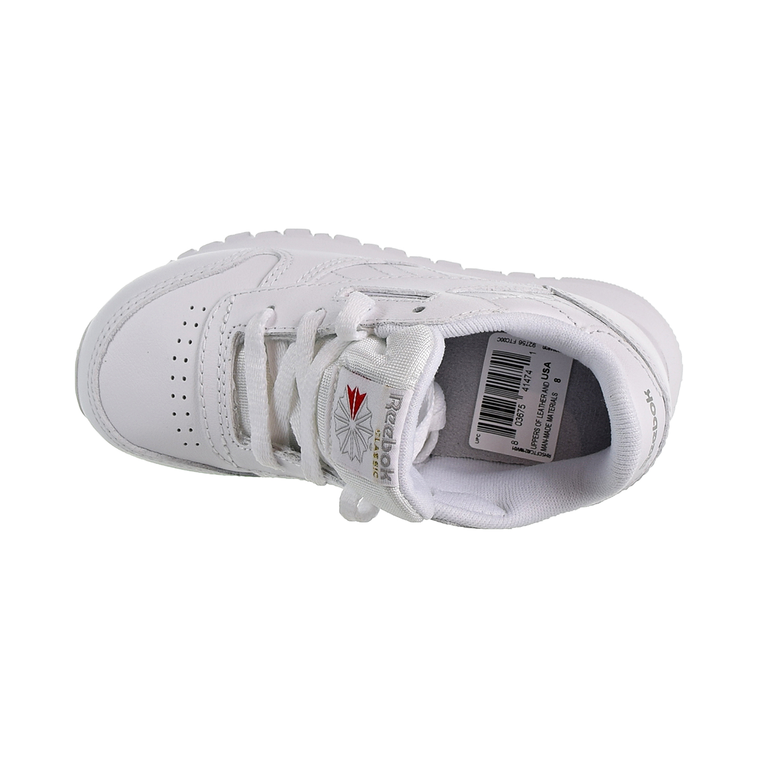 2d71a01a4c8 Reebok Classic Leather Toddler s Shoes White Light Grey 92756