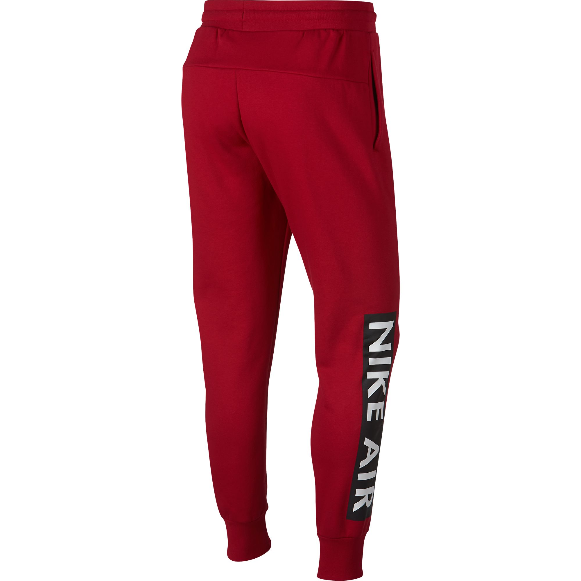 7c319d16169f Details about Nike Sportswear Air Fleece Men s Sweat Pants Red Black White  928637-687