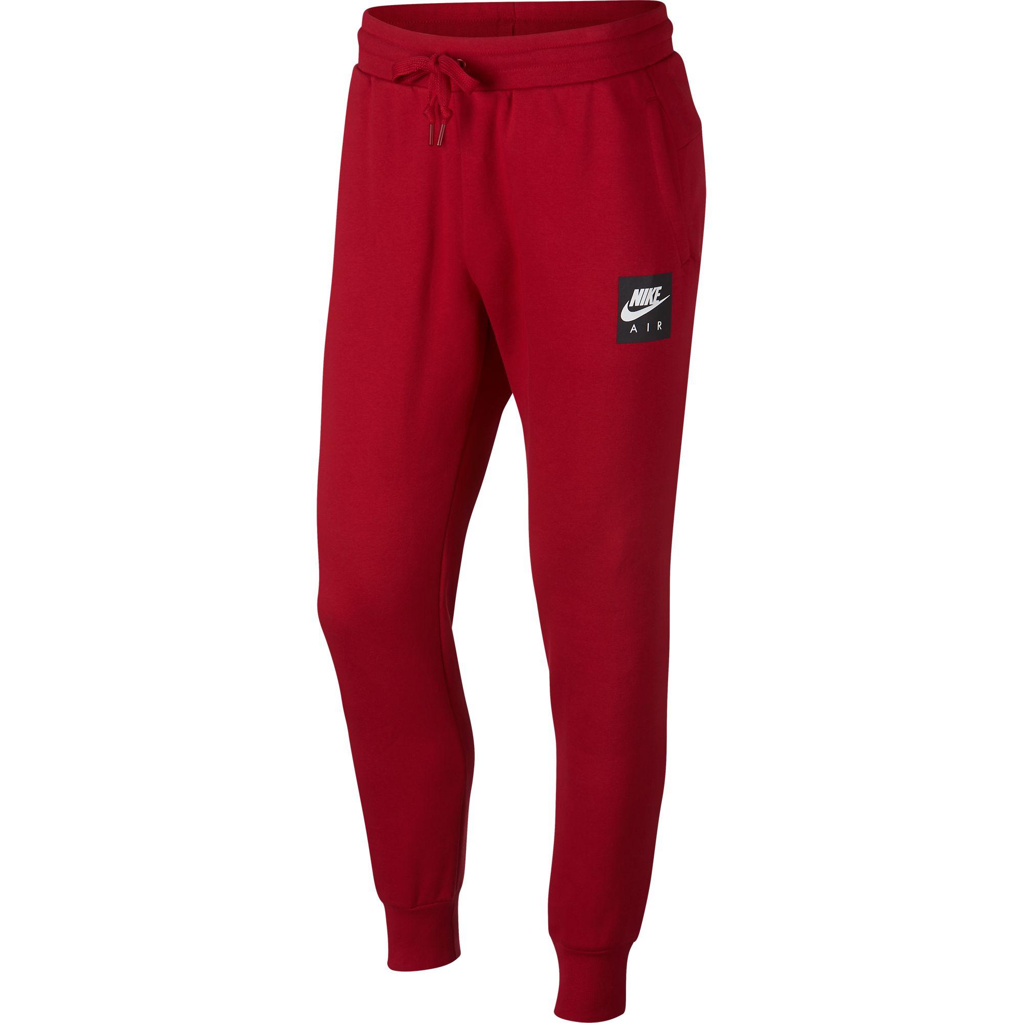 778120589 Details about Nike Sportswear Air Fleece Men's Sweat Pants Red/Black/White  928637-687