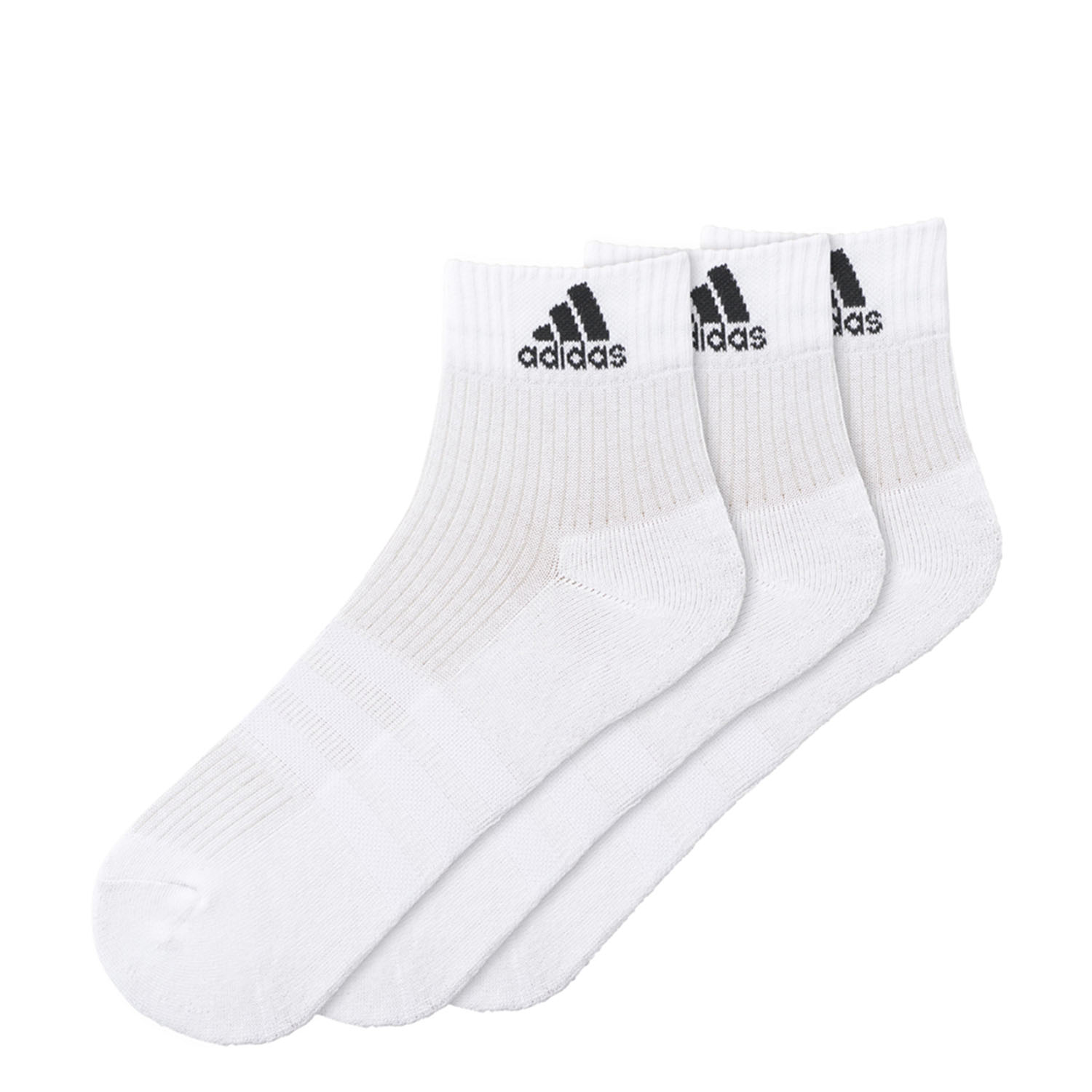 14cb48cda Details about Adidas 3-Stripes Performance Ankle Socks 3 Pairs White/Black  AA2285