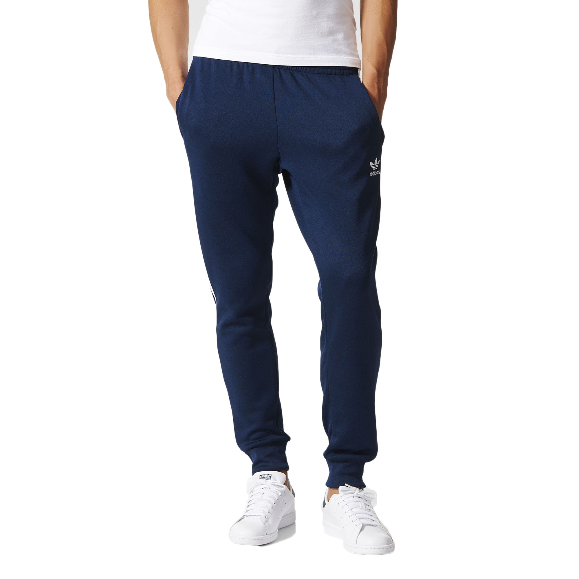Details about Adidas Superstar Cuffed Men's Track Pants Navy Blue/White