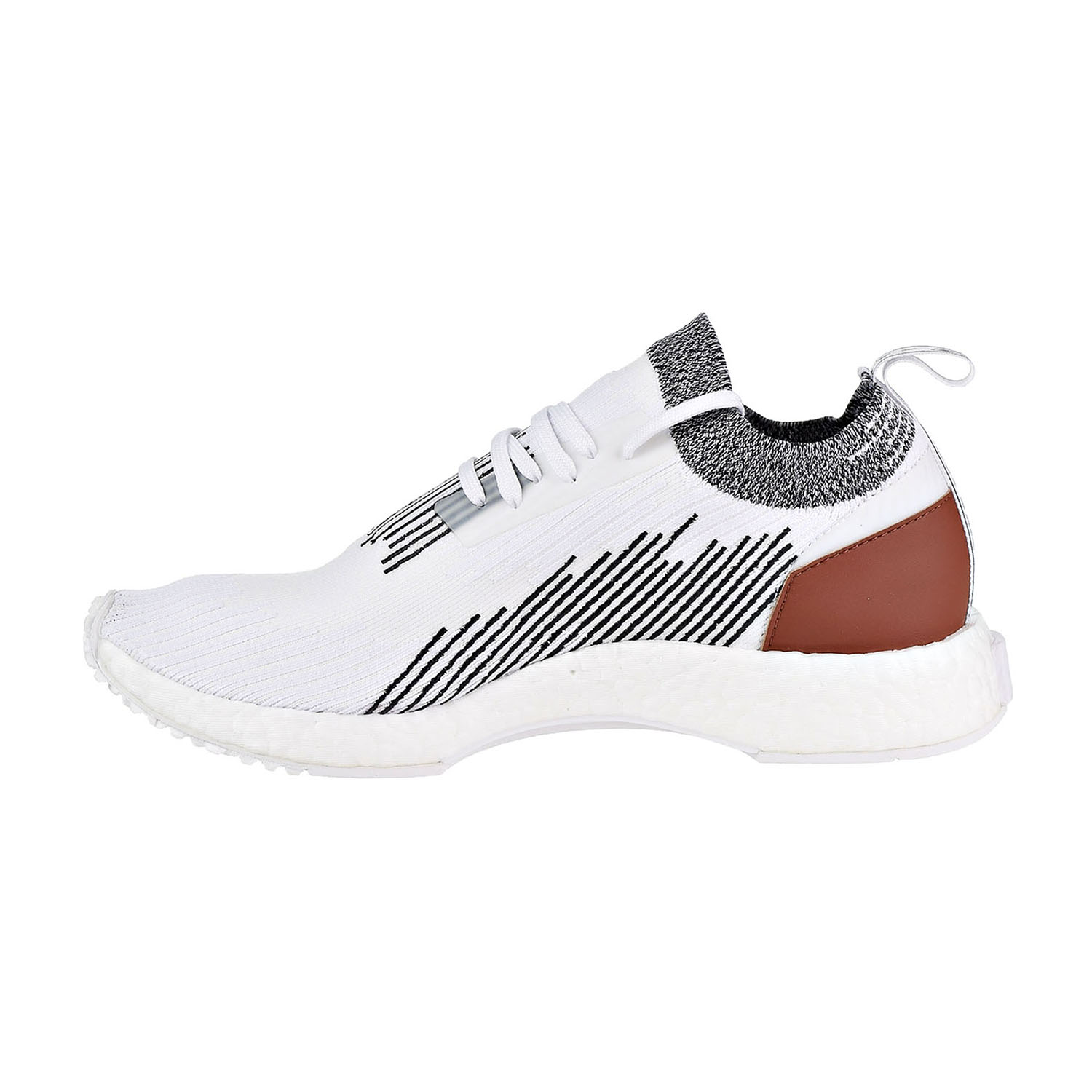 brand new 45f51 3186e Adidas Originals NMD Racer Men s Shoes White Black Strewo ac8233