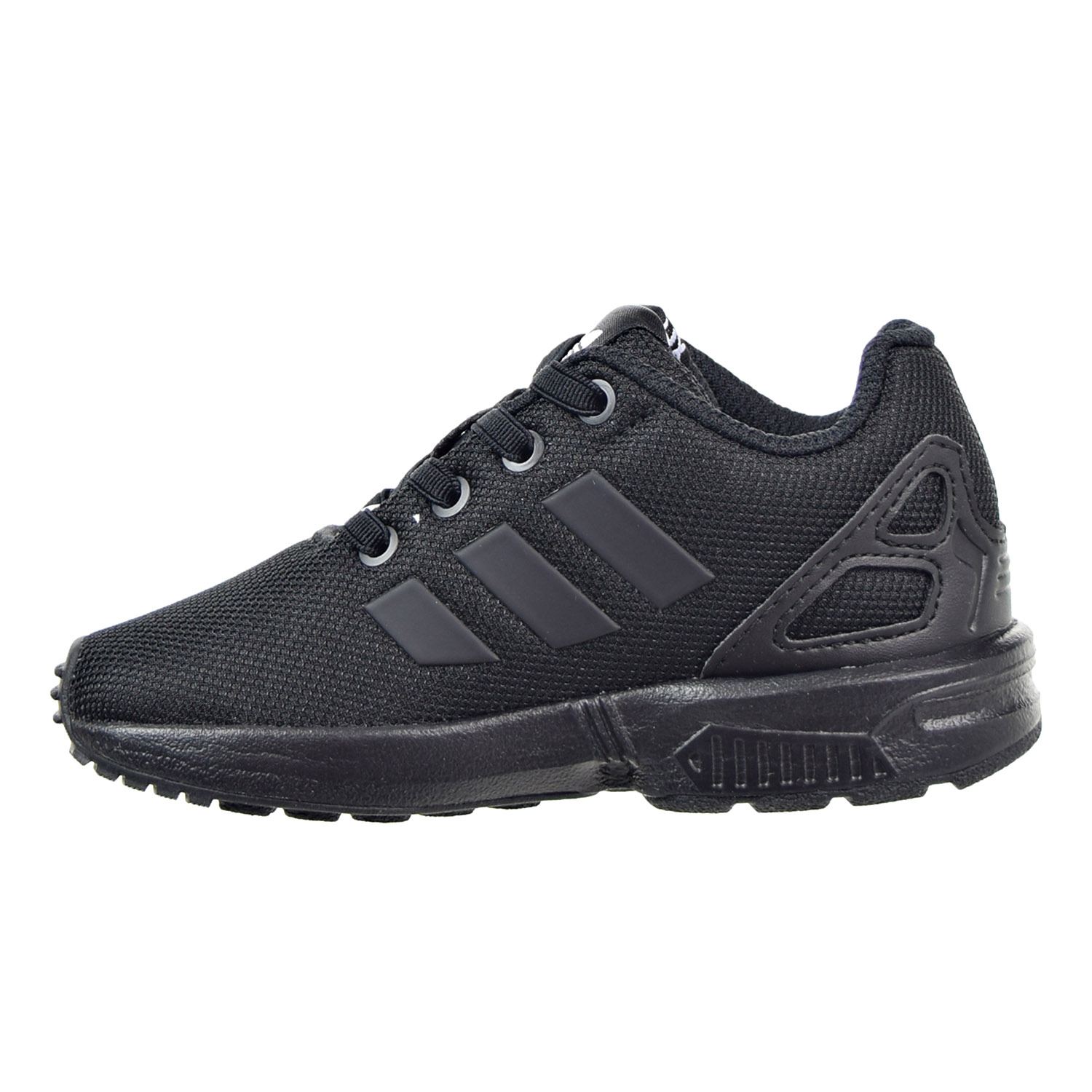 Details about Adidas ZX Flux EL I Toddler Shoes Black Black Black AF6260
