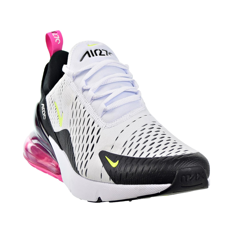 Details about Nike Air Max 270 Mens Shoes White-Volt-Black-Laser Fuchsia  ah8050-109
