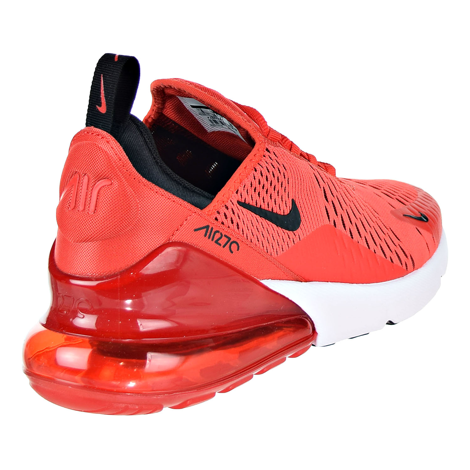 Nike Air Max 270 Men S Shoes Habanero Red Black White Ah8050 601 9 D M Us