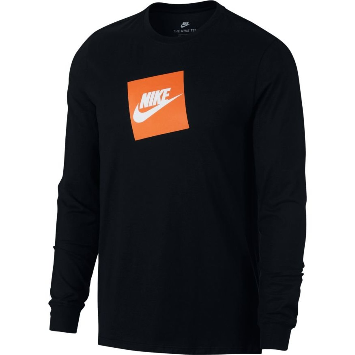 official sneakers new collection Details about Nike Men's Futura Box Logo Long Sleeve T-shirt Black-Orange  AJ3873-010