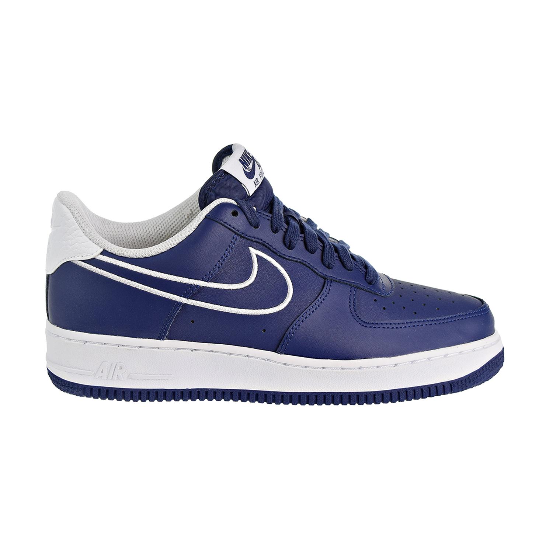 Details about Nike Air Force '07 LTHR Men's Shoes Blue voidWhite AJ7280 400