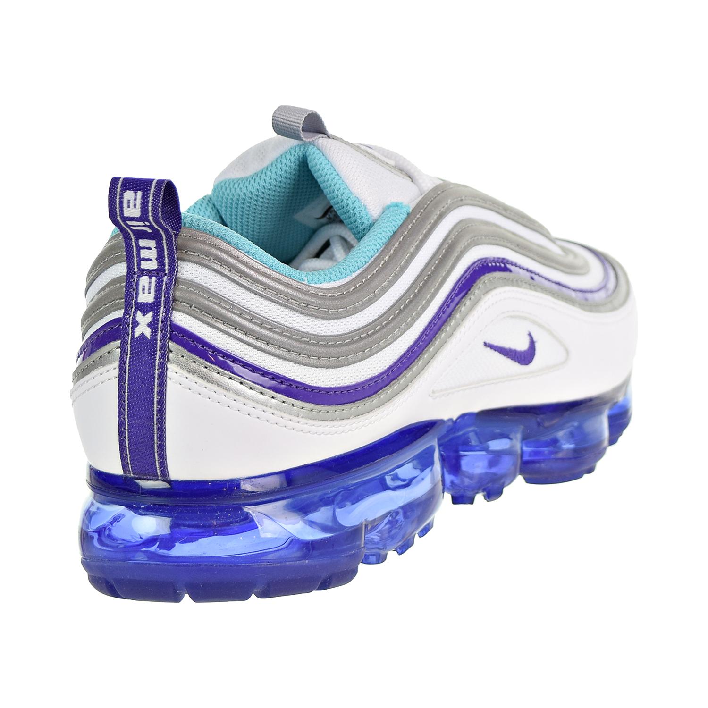 low priced 38aac a2dfc Nike Air Vapormax  97 Men s Shoes White Aqua Varsity Purple  Metallic  Silver aj7291-100