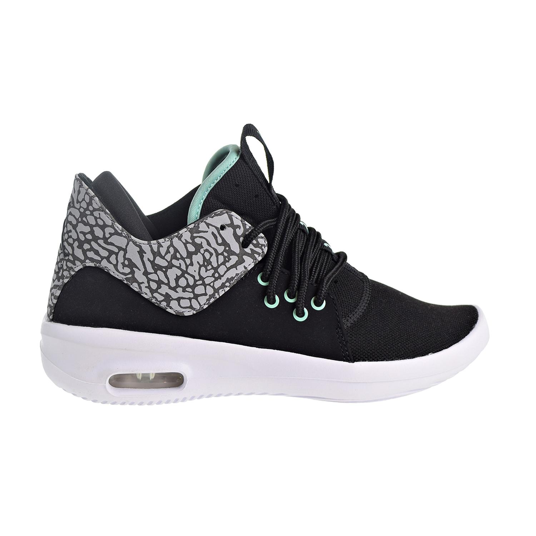 new style 684f6 e9772 Nike Air Jordan First Class BG Big Kids Shoes BlackEmrald RiseCement  Grey aj7314-031