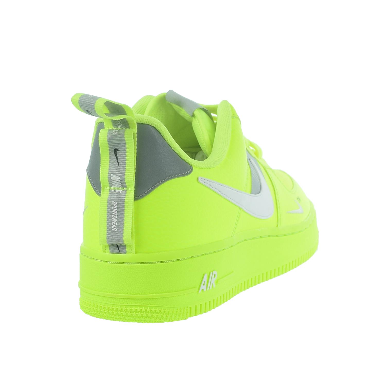 1599677c Nike Air Force 1 '07 LV8 Utility Men's Shoes Volt/White/Black/Wolf Grey  aj7747-700