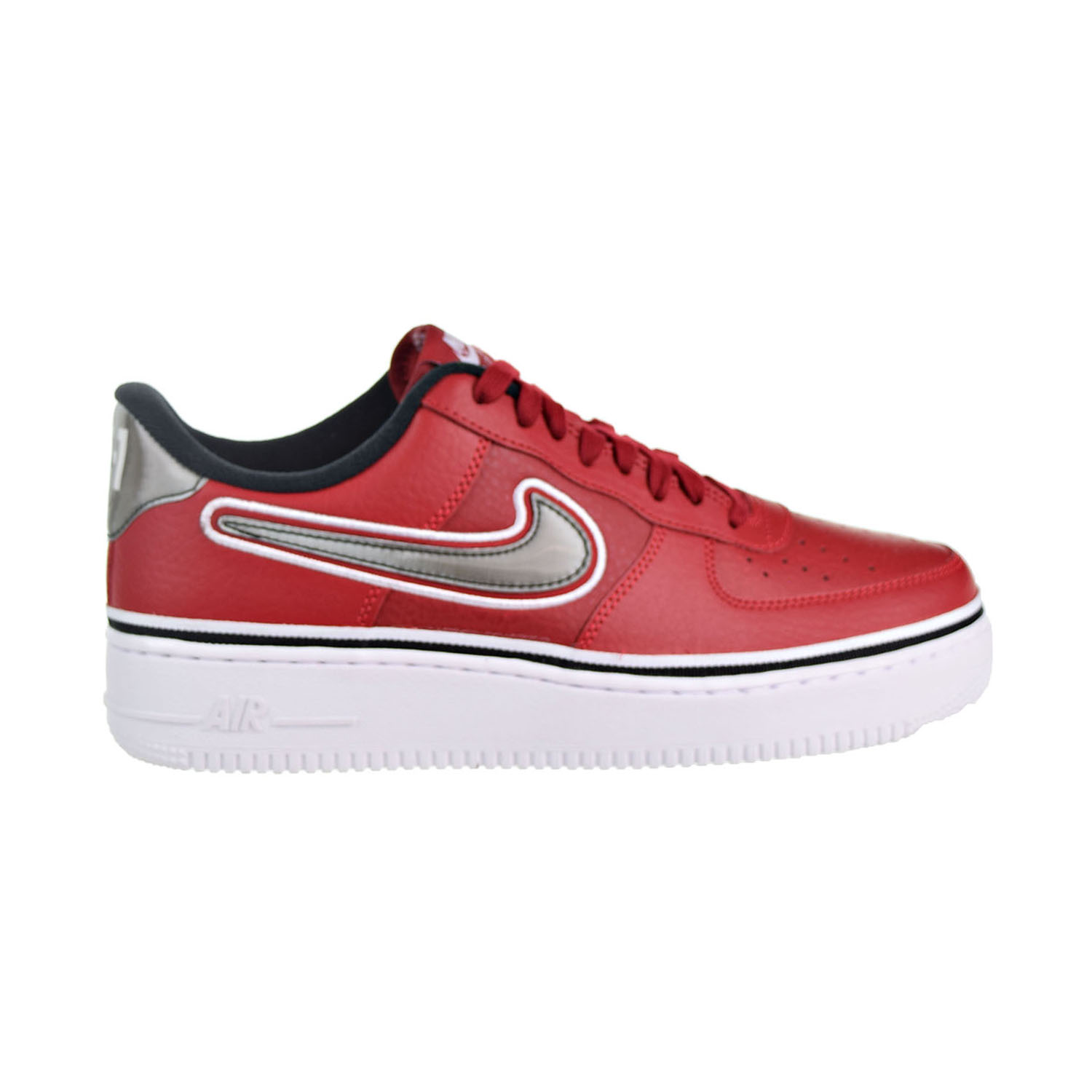 ffe5386827974 Details about Nike Air Force 1  07 LV8 Sport NBA Mens Shoes Varsity Red  Black White AJ7748-600