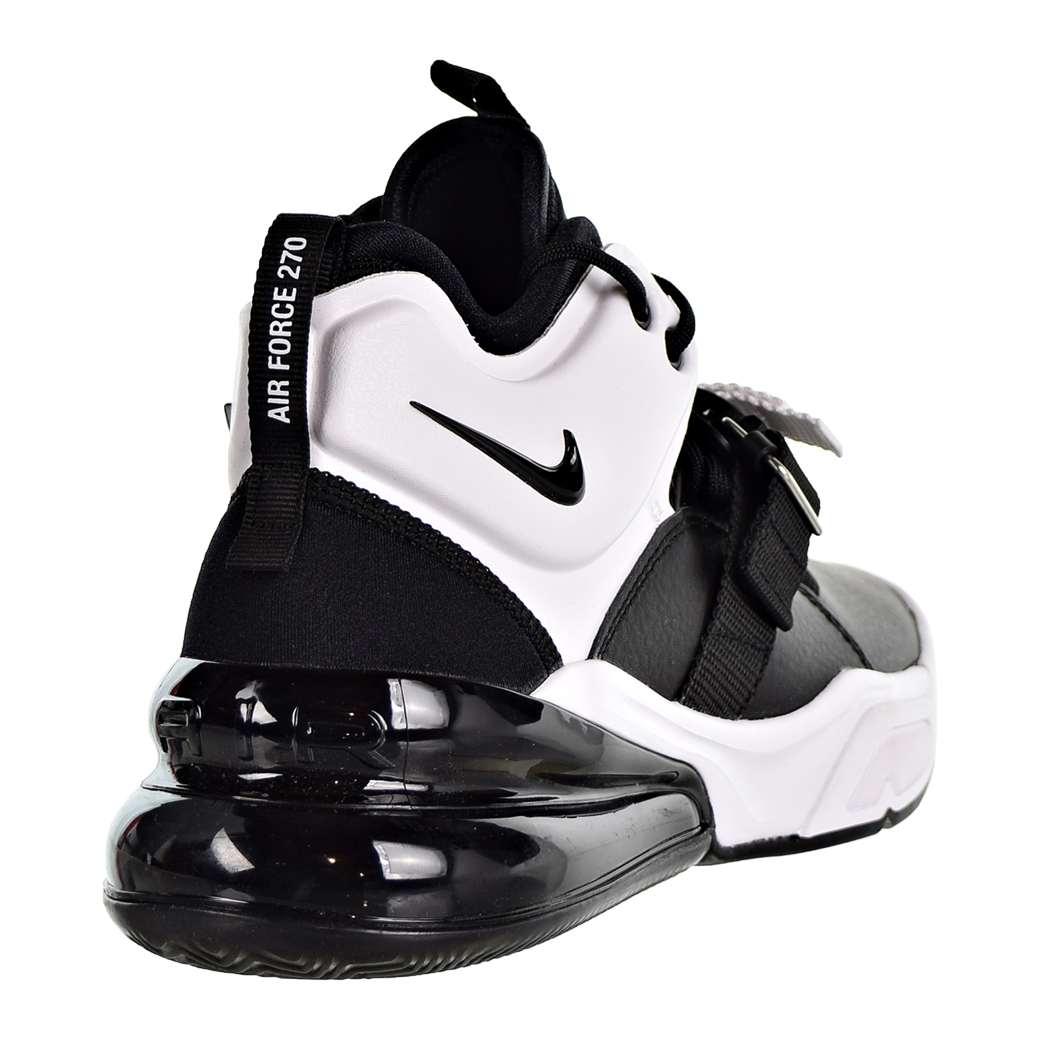 Details about Nike Air Force 270 Big Kids' Shoes Black White Anthracite AJ8208 001