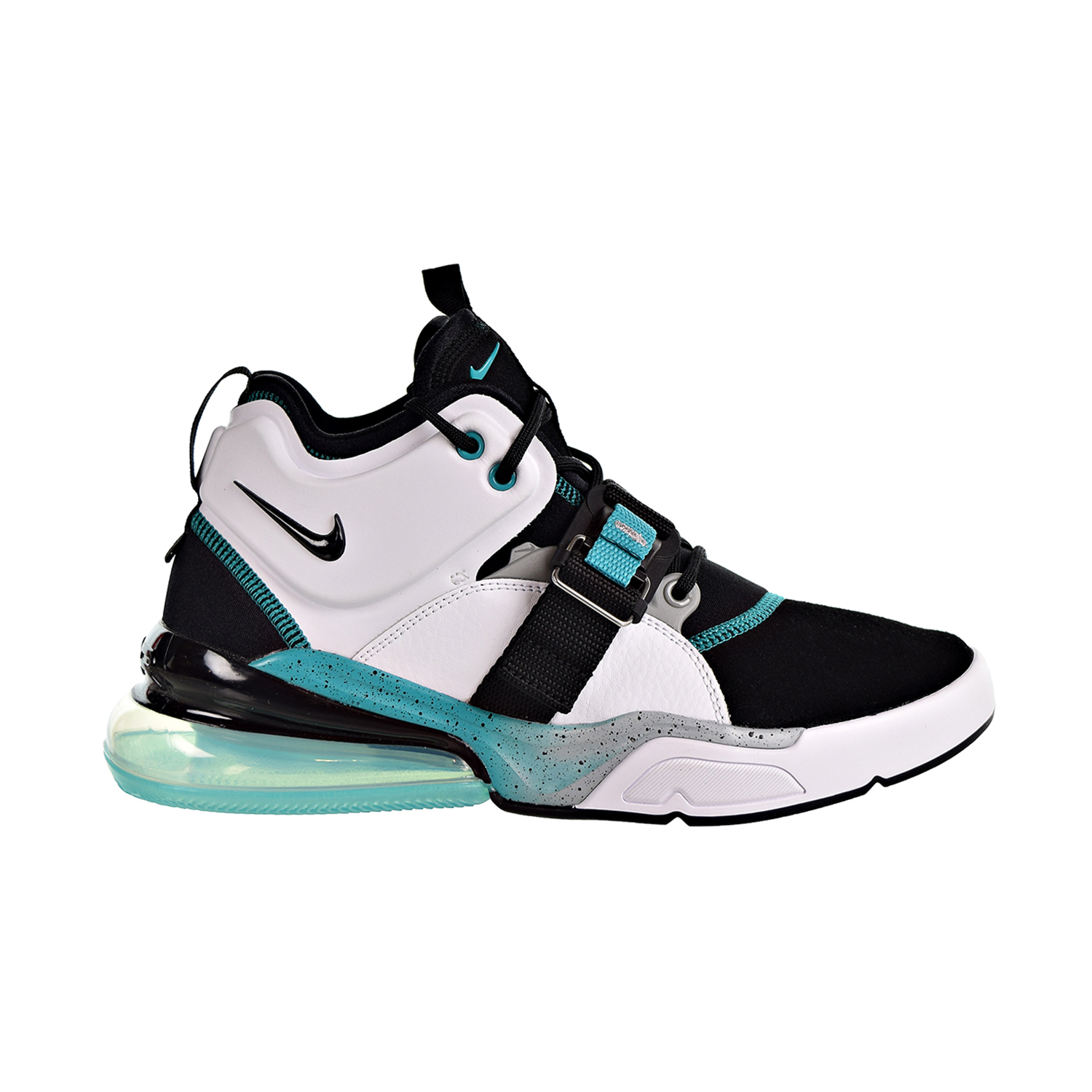 Details about Nike Air Force 270 Big Kids' Shoes White Black Wolf Grey AJ8208 100