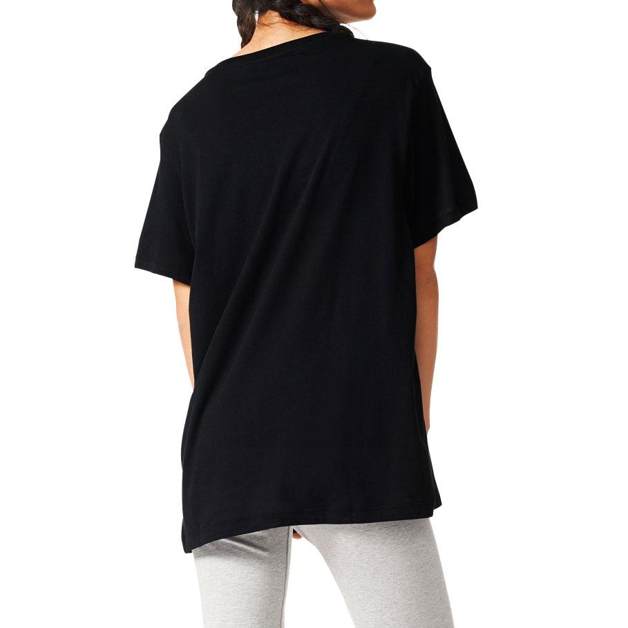 Details about Adidas Originals Boyfriend Trefoil Women's T Shirt Black White aj8351