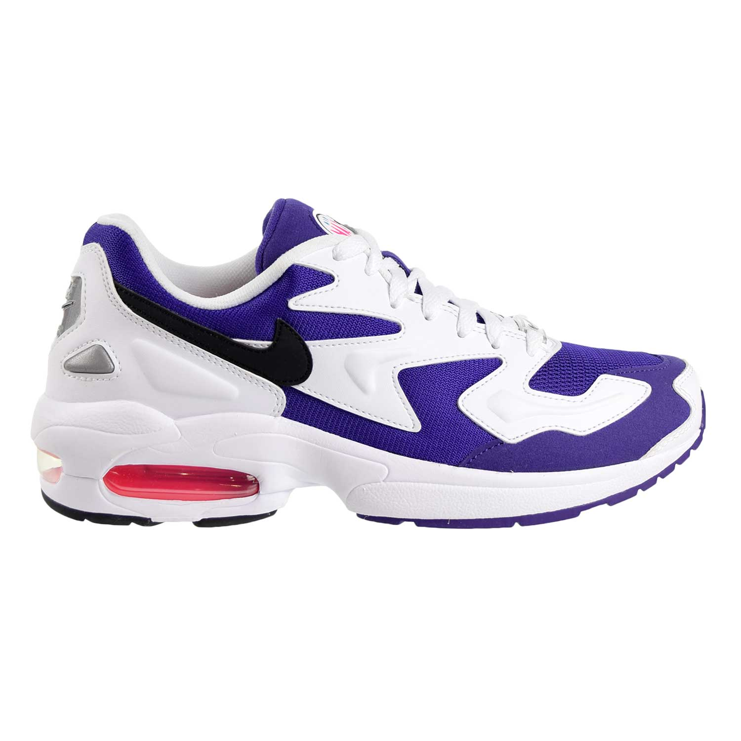 Details about Nike Air Max 2 Light Mens Shoes White-Black-Court Purple  AO1741-103