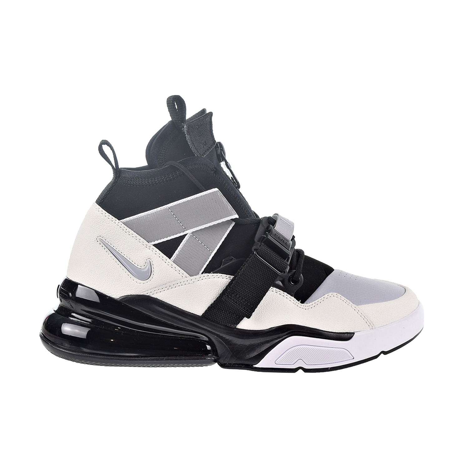 Details about Nike Air Force 270 Utility Men s Shoes Black Sail Wolf  Grey White AQ0572-003 57991ef6c