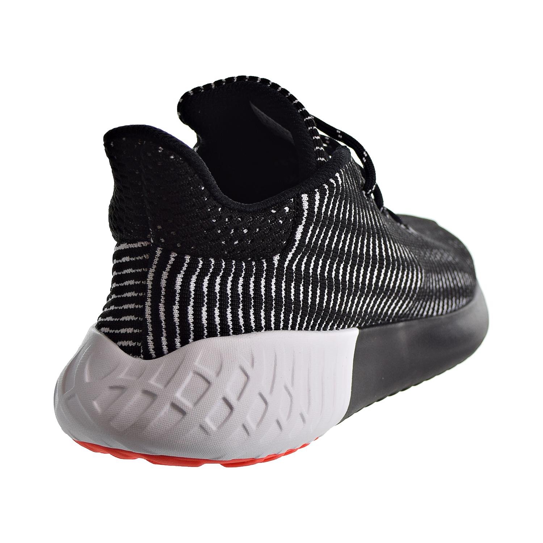 f3a3a4d1526 Adidas Tubular Dusk PrimeKnit Men s Shoes Core Black Cloud White Solar Red  aq1185