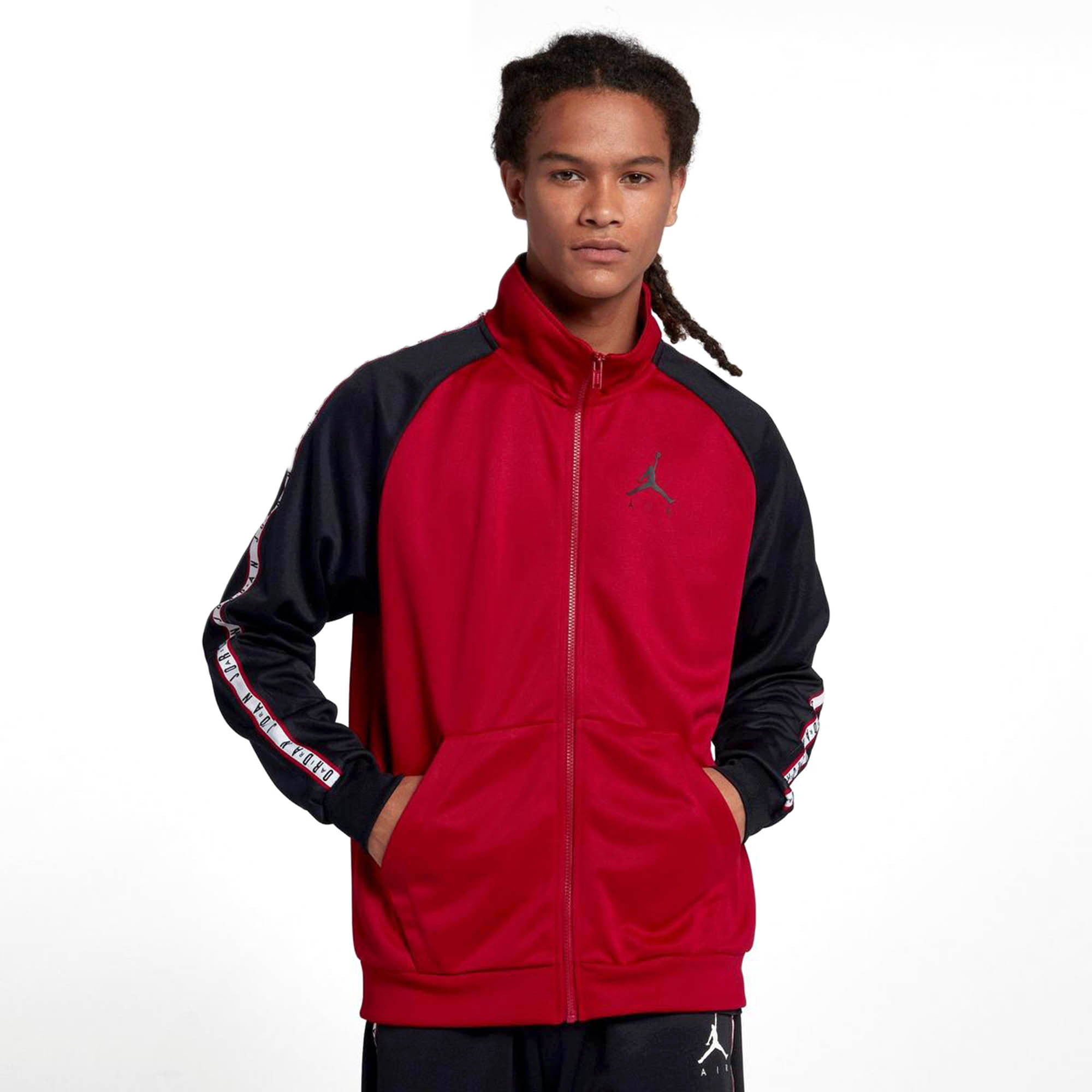 Jordan JSW Jumpman Taped Tricot Men's Full Zip Jacket Red ...