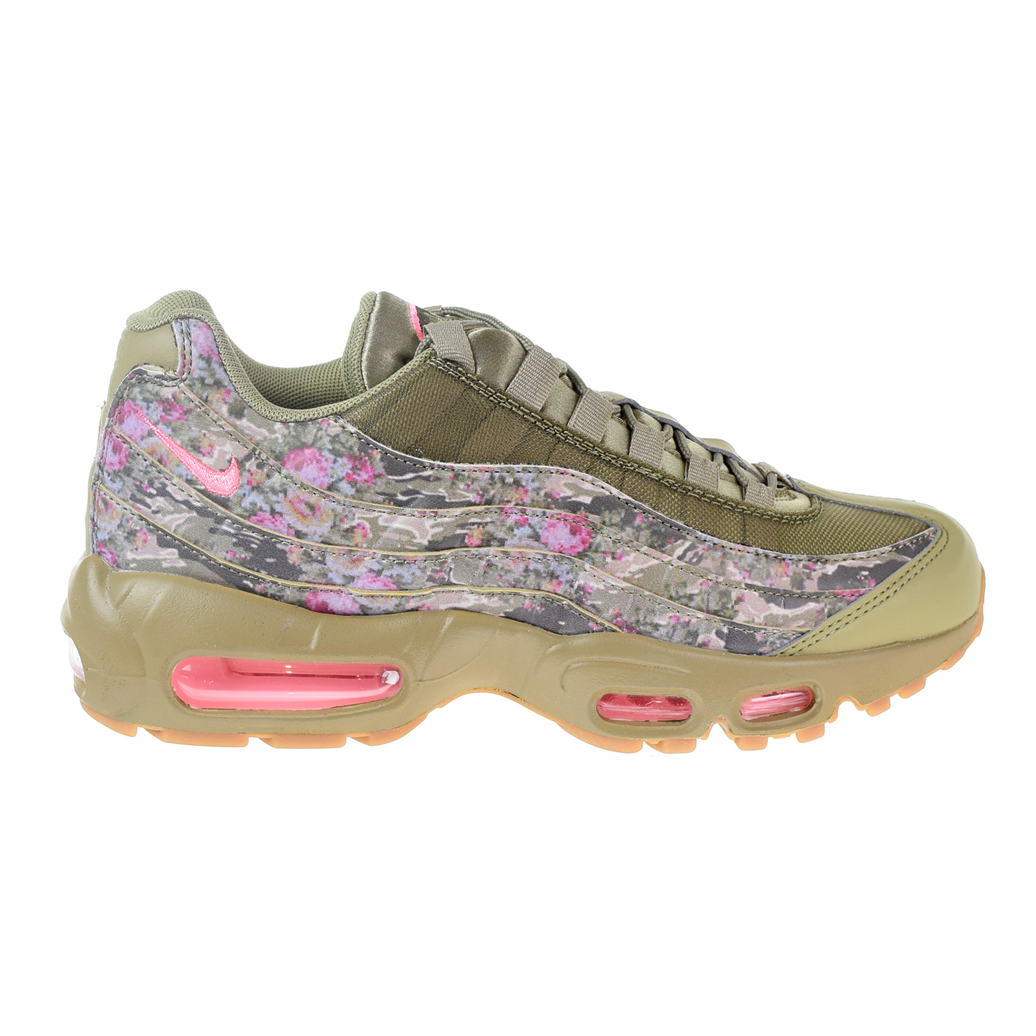 78bc2066d2 Details about Nike Air Max 95 Women's Shoes Neutral Olive/Arctic Punch  AQ6385-200