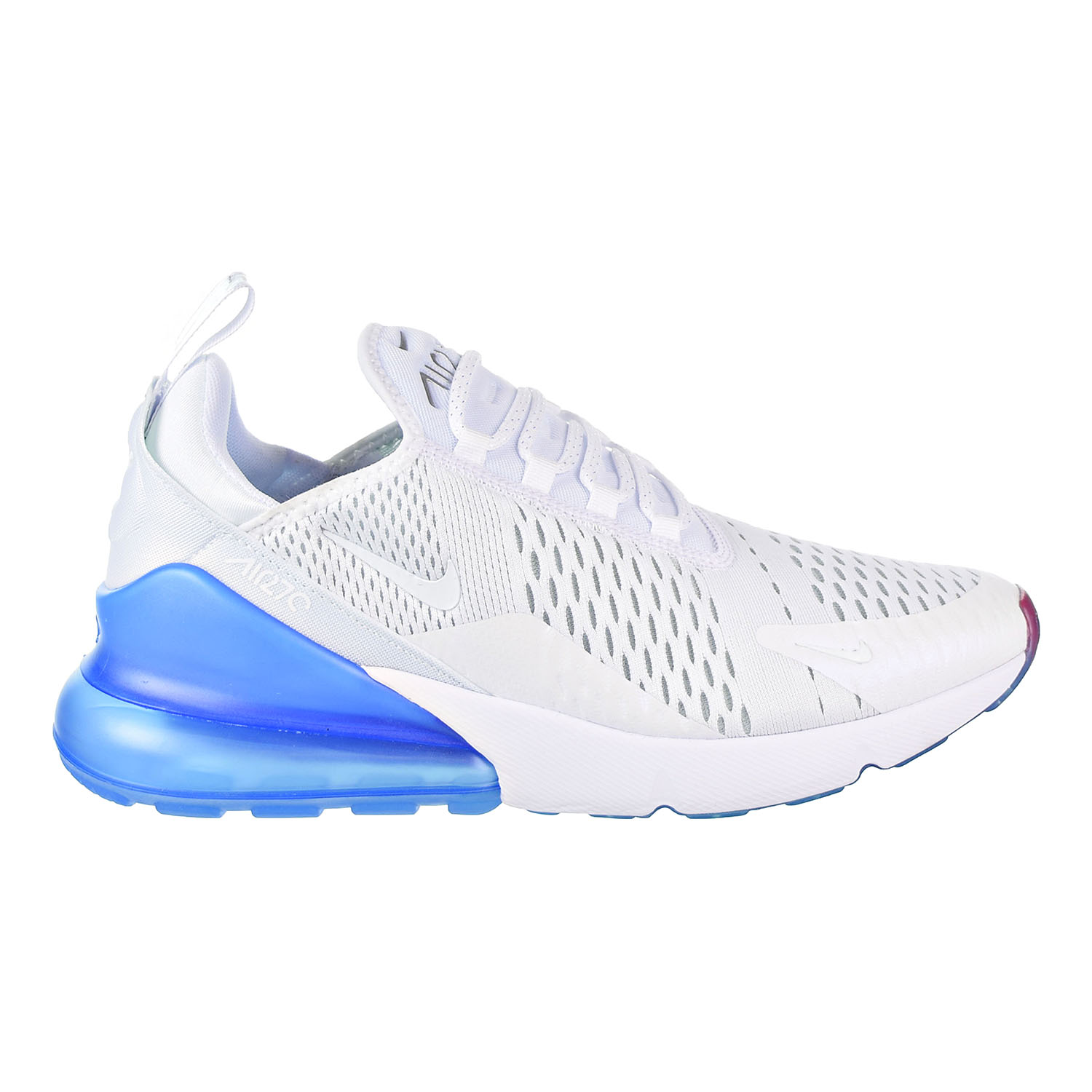 new style 7a59f 00de0 Details about Nike Air Max 270 Men s Shoes White Metallic Silver AQ7982-100