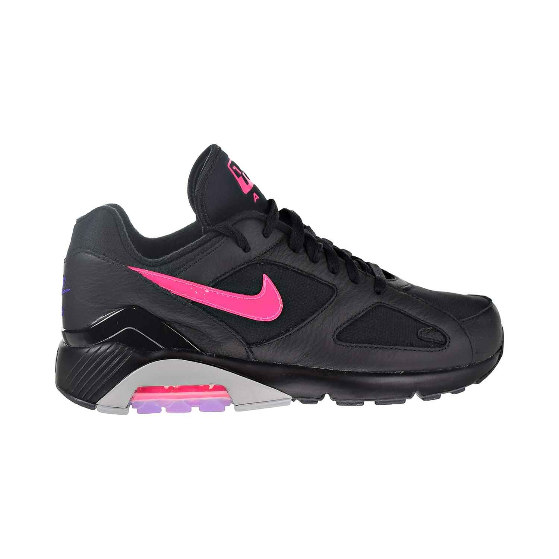 more photos 5b808 b7a9f Details about Nike Air Max 180 Mens Shoes BlackPink BlastWolf Grey  AQ9974-001