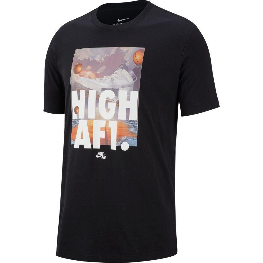 Ajustamiento auricular Productivo  Ropa deportiva Nike para Hombre Air Force 1 Camiseta Negro AR5042-010 | eBay