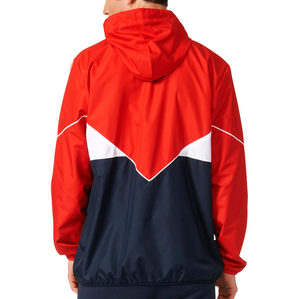 ce17d970d Details about Adidas Originals CRDO Windbreaker Men's Jacket Vivid  Red/Legend Ink/White ay7729