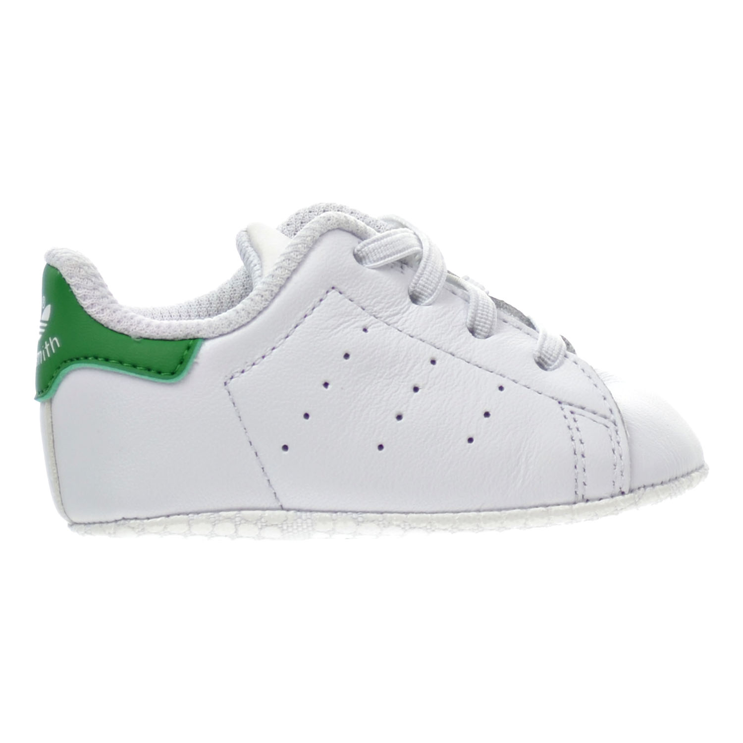 info for 90d23 3a858 Details about Adidas Stan Smith Crib s Shoes White Green b24101