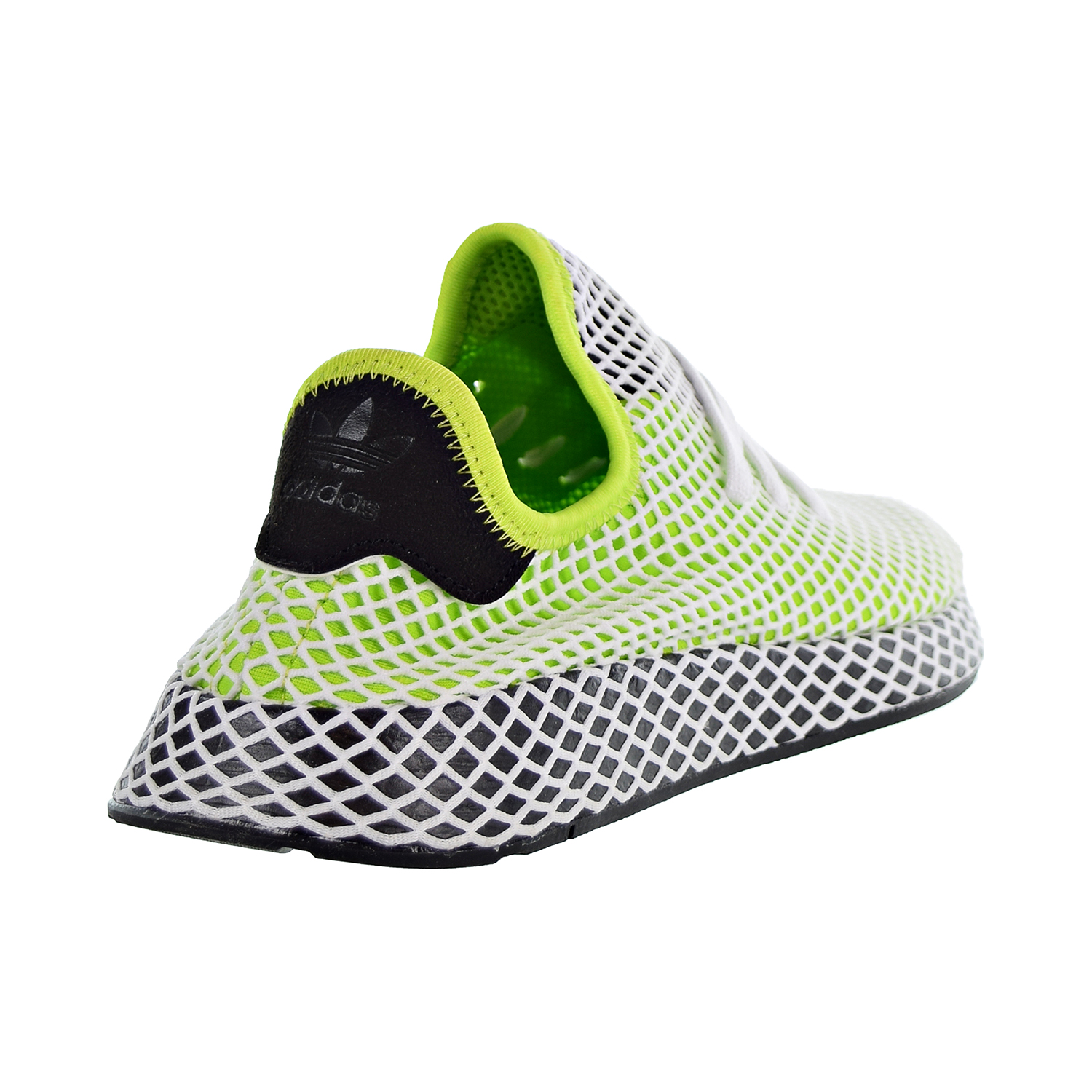 4d09da32bb388 Adidas Originals Deerupt Runner Men s Shoes Solar Slime Core Black Core  Black b27779