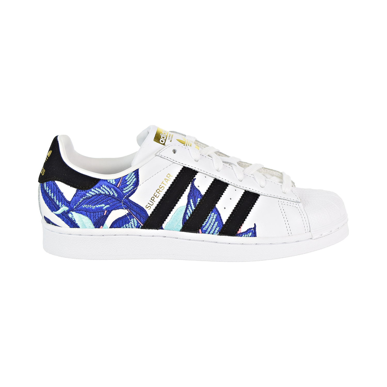 951471aed5d Details about Adidas Superstar Women's Shoes White/Black/Blue B28014