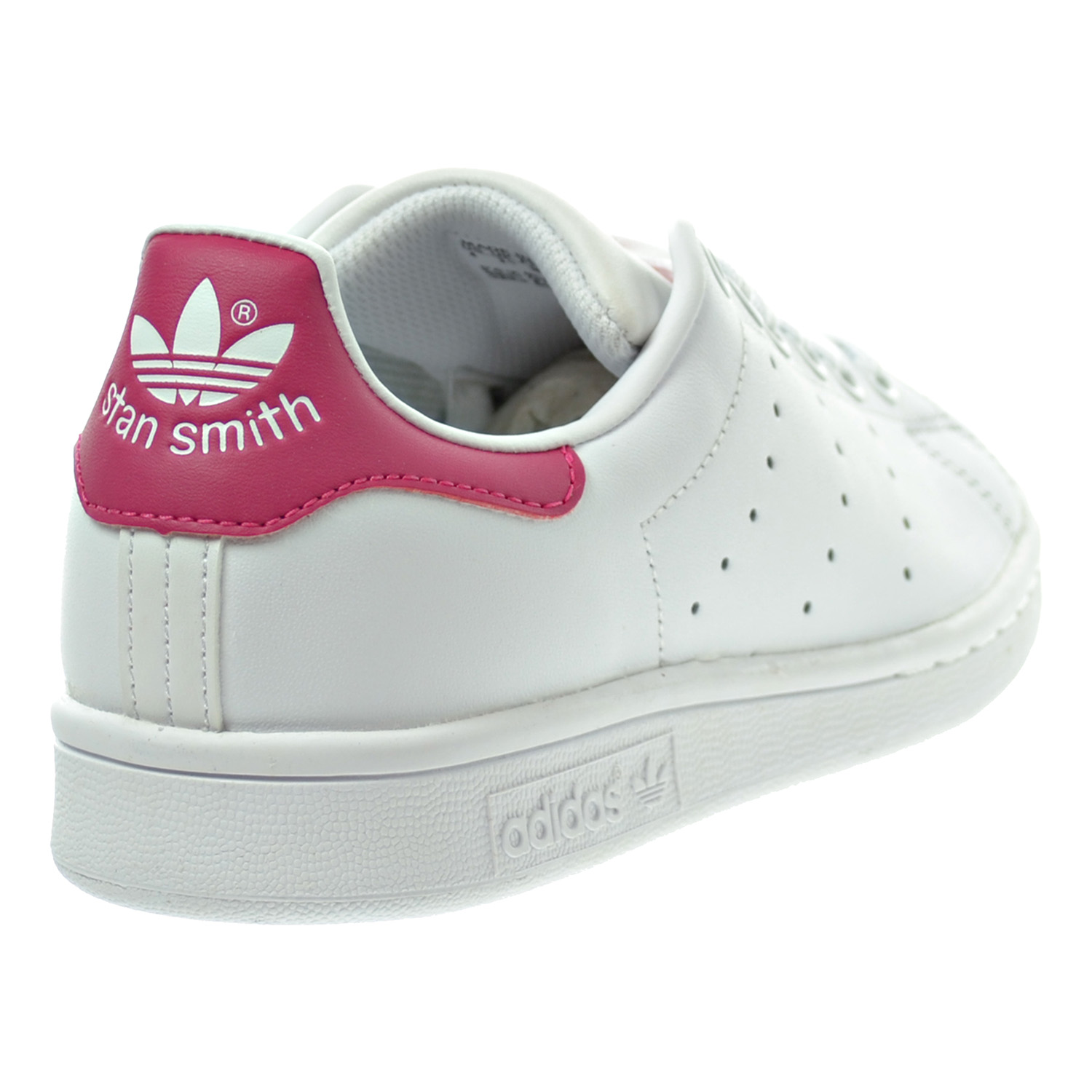 fa2066bbdbb Adidas Stan Smith J Big Kid s Shoes White Bold Pink b32703