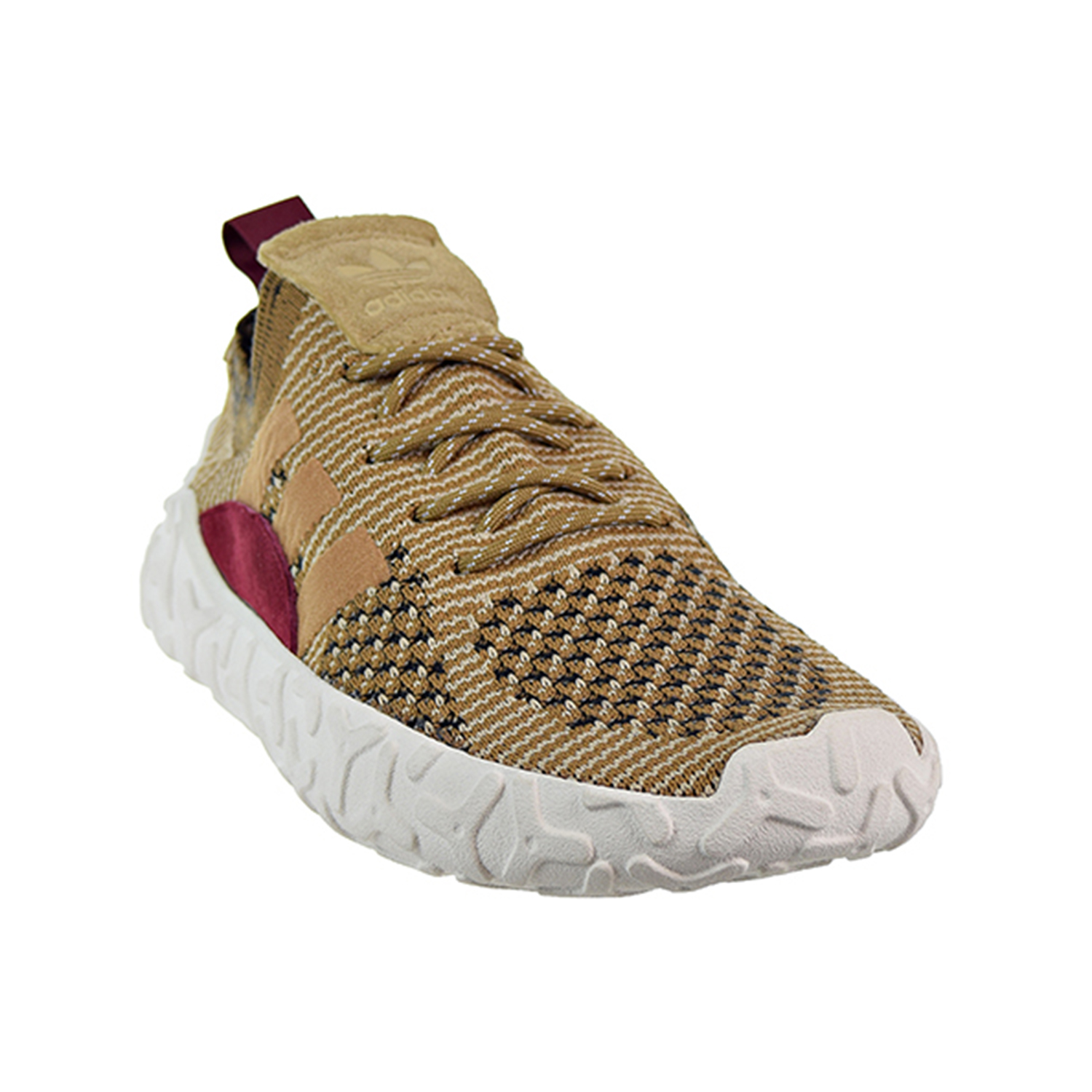 Details about Adidas F 22 Primeknit Men's Shoes Brown Raw Desert Collegiate Burgundy B41736