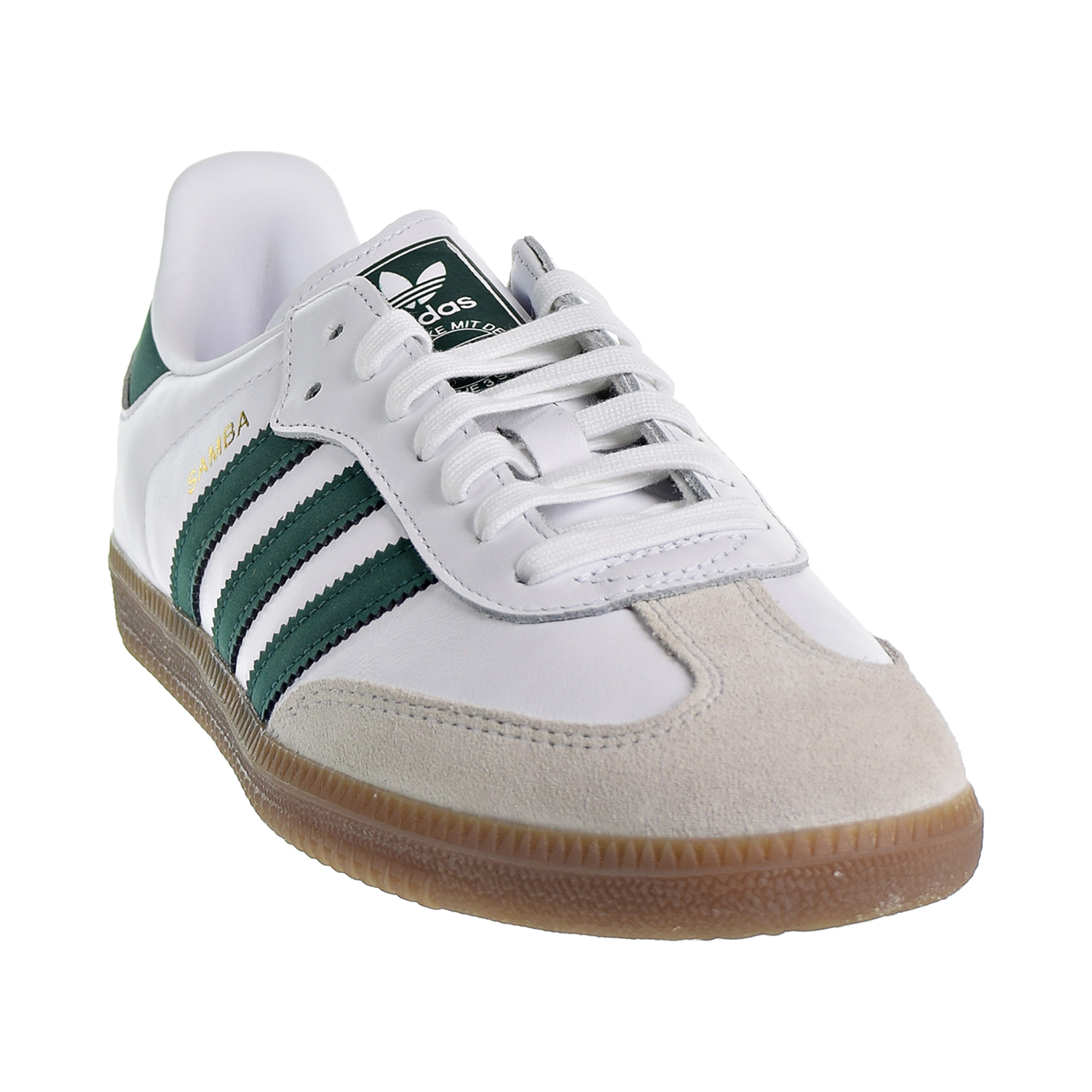 367bca8199b Adidas Samba OG Men s Shoes Cloud White Collegiate Green Crystal White  b75680
