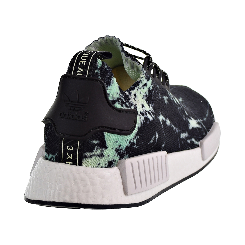 ad4862a35 Adidas NMD R1 Primeknit Men s Shoes Core Black Cloud White Aero Green bb7996