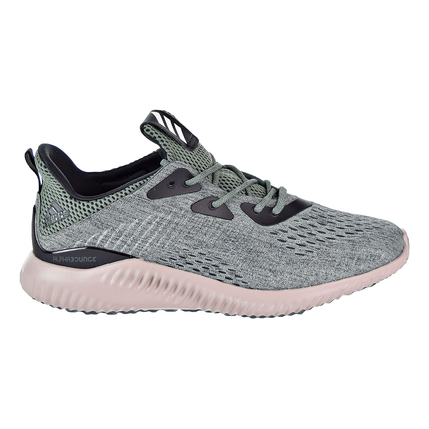 newest a0ace 4f78d Details about Adidas Alphabounce EM Mens Running Shoes GreenWhite BB9042