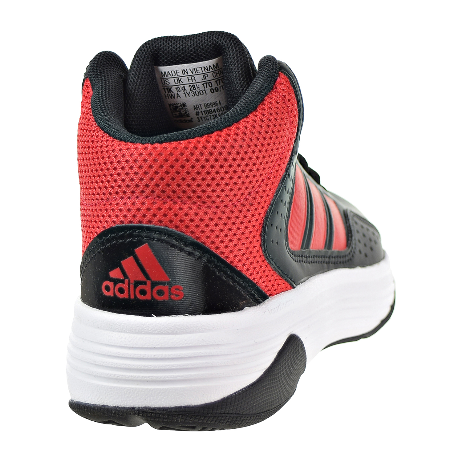 Adidas Cloudfoam Ilation Mid K Big Kids Little Kids Shoes Black Red White  bb9964 c62201ee2