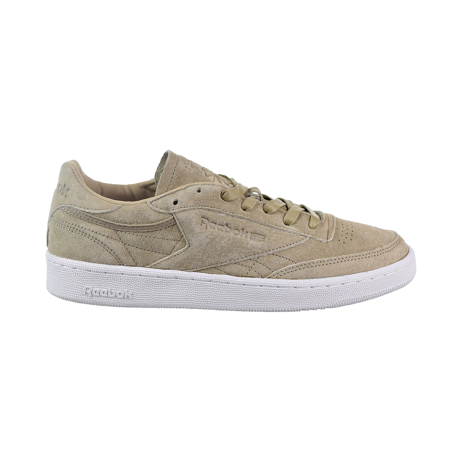 a407881028f Details about Reebok Club C 85 LST Men s Shoes Oatmeal Driftwood  White  BD1897
