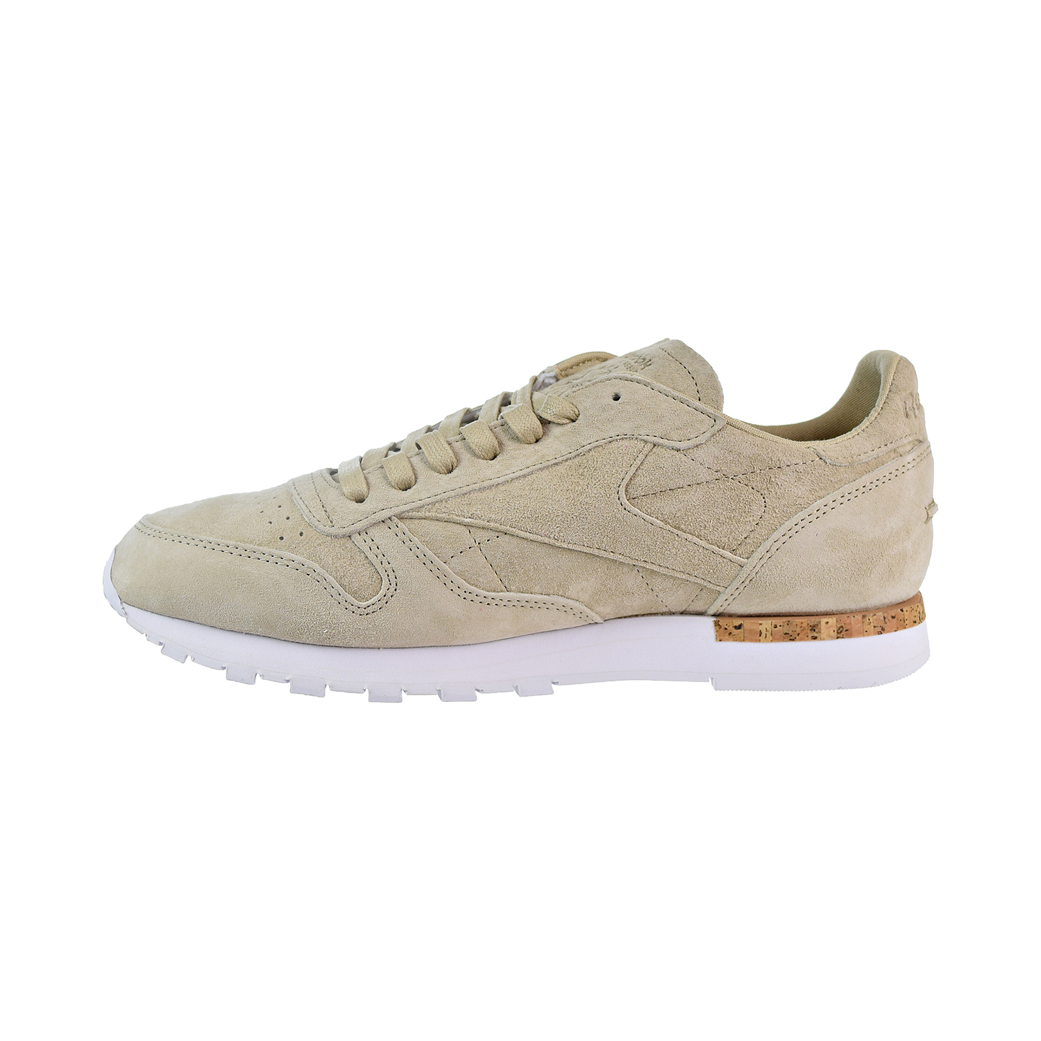 Details about Reebok Classic Leather LST Men's Shoes Oatmeal Driftwood White BD1900