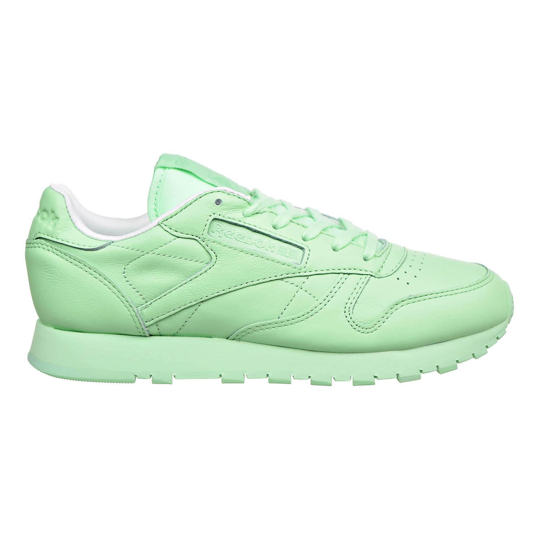 Rico Objeción Ceniza  Reebok Classic Leather Pastels Womens Shoes Mint Green-White bd2773 | eBay