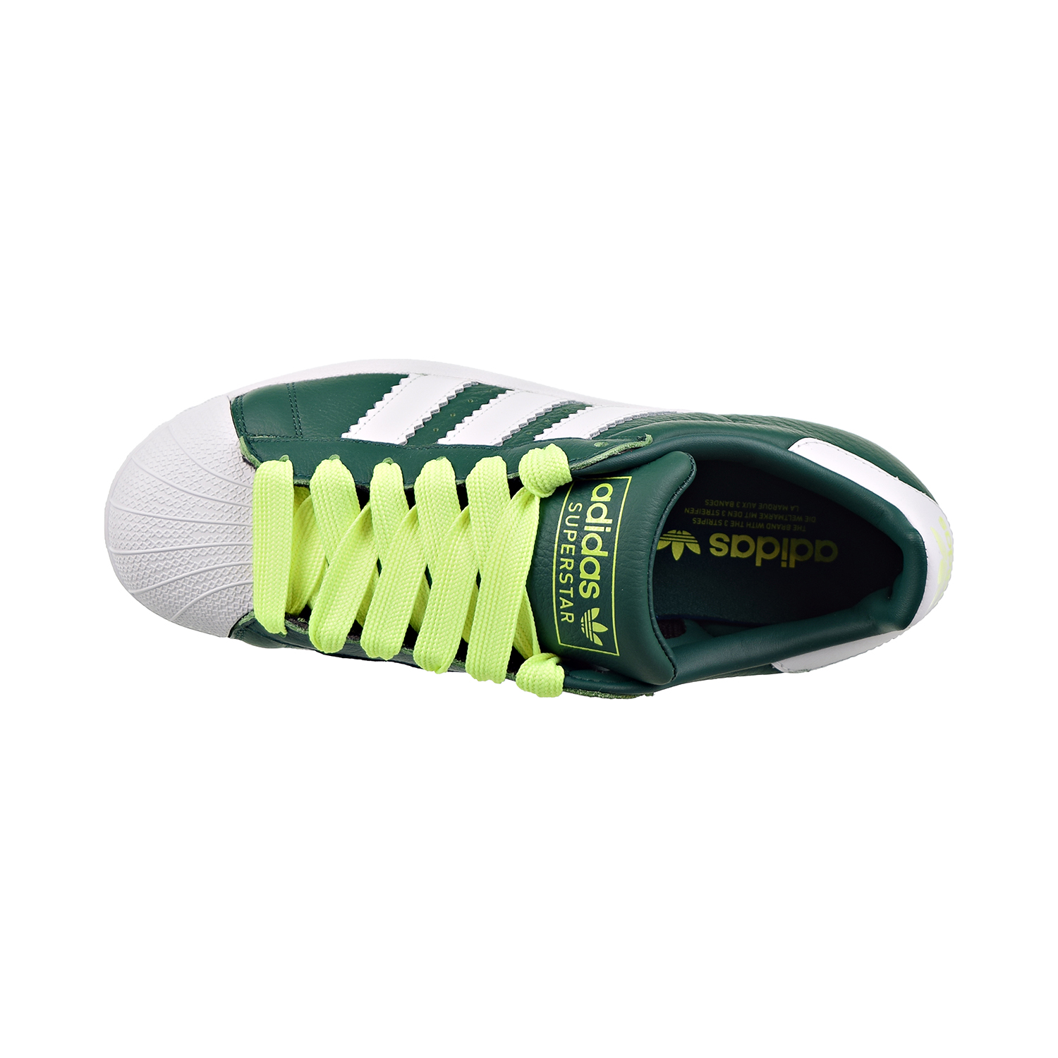 Details about Adidas Superstar Mens Shoes Collegiate Green Cloud White Hi Res Yellow bd7419