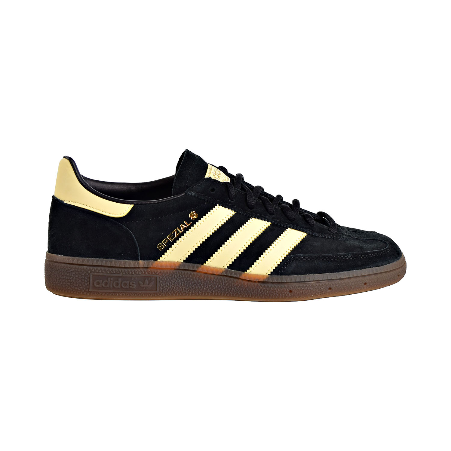 Details about Adidas Handball Spezial Mens Shoes Core Black Easy Yellow Gum BD7621