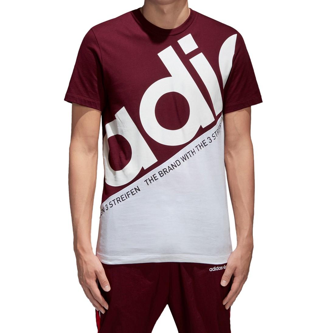 Details about Adidas Men's Originals Classsic Tee Maroon White bq9222