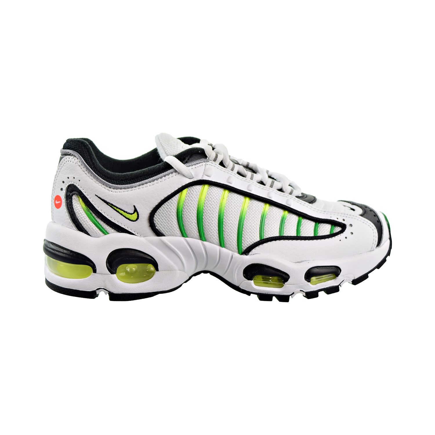 Details about Nike Air Max Tailwind 4 Big Kids Shoes White Volt Black BQ9810 100
