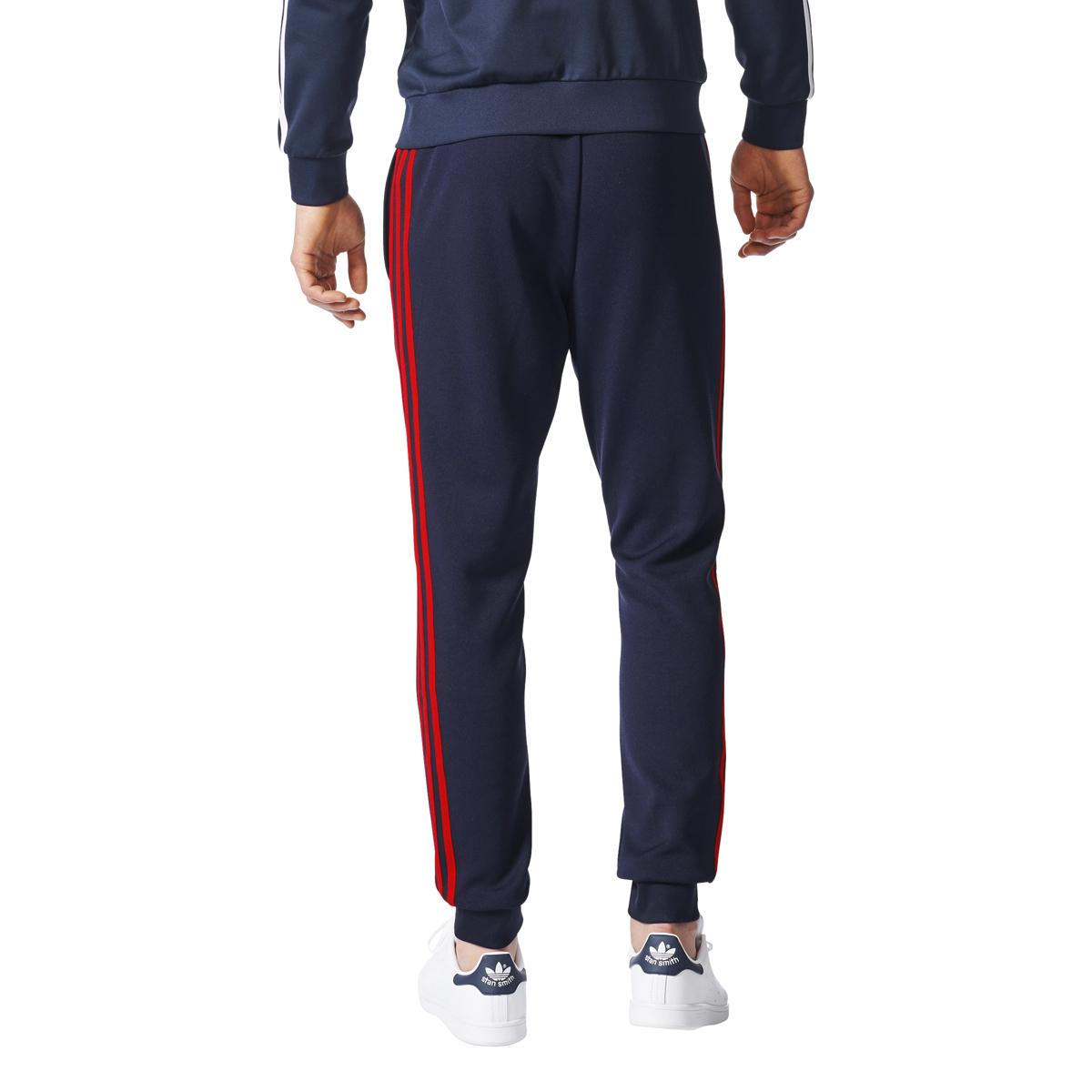 Details about Adidas Originals Superstar Men's Cuffed Track Pants Legend Ink Red br4288