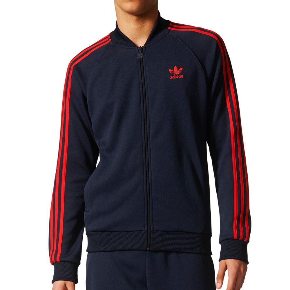 Details about Adidas Originals Superstar Men's Track Jacket Legend Ink Red br4320