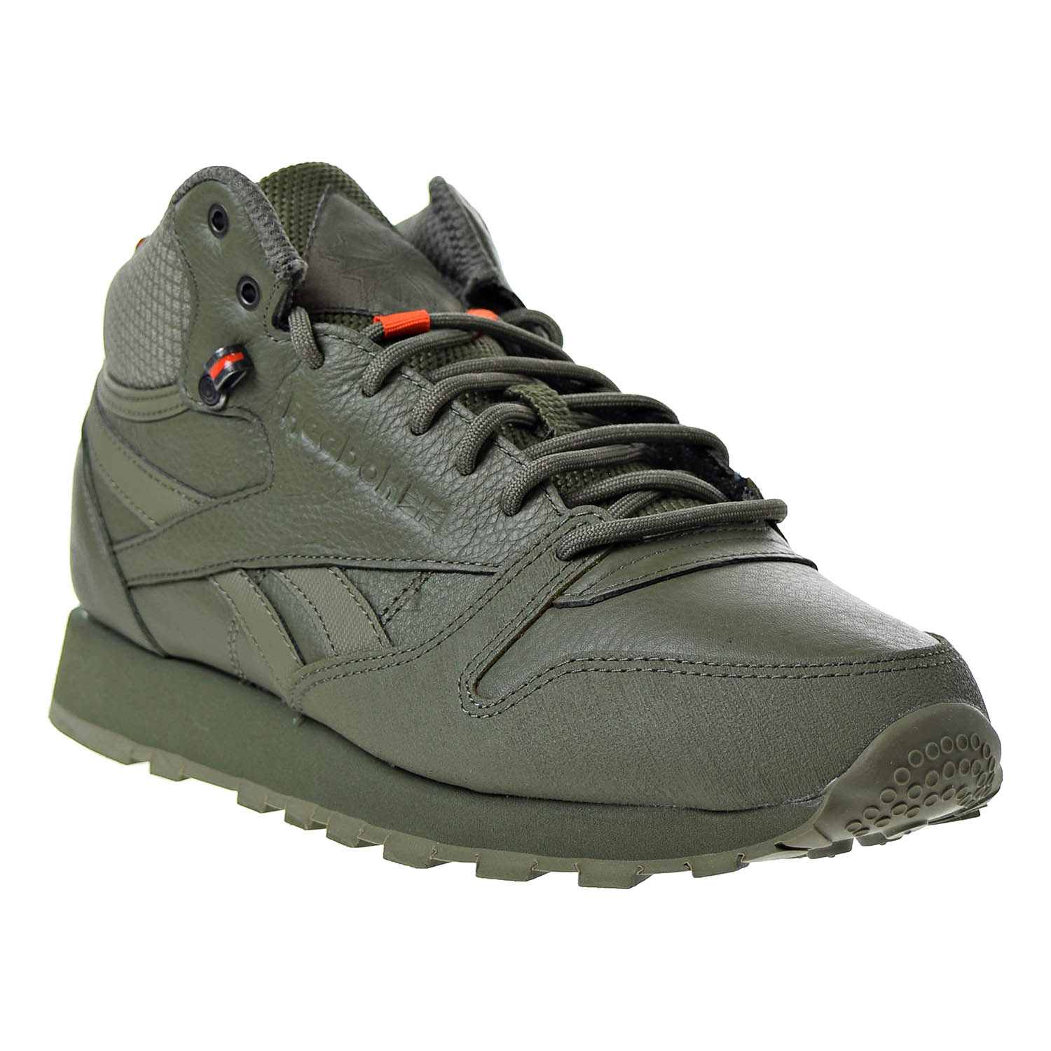 Details about Reebok Classic Leather Mid TWD Men s Shoes Hunter Green   Stone Grey BS8327 cb0a9f236