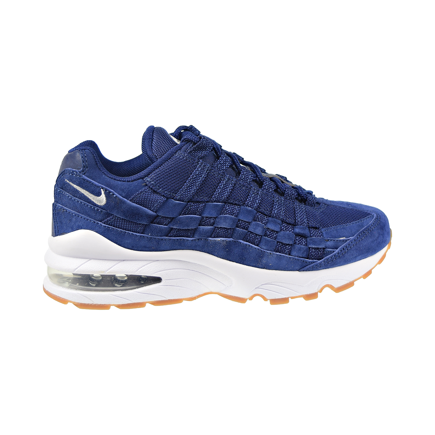 Nike Air Max 95 Woven Gs Big Kids Shoes Blue Void Wolf Grey