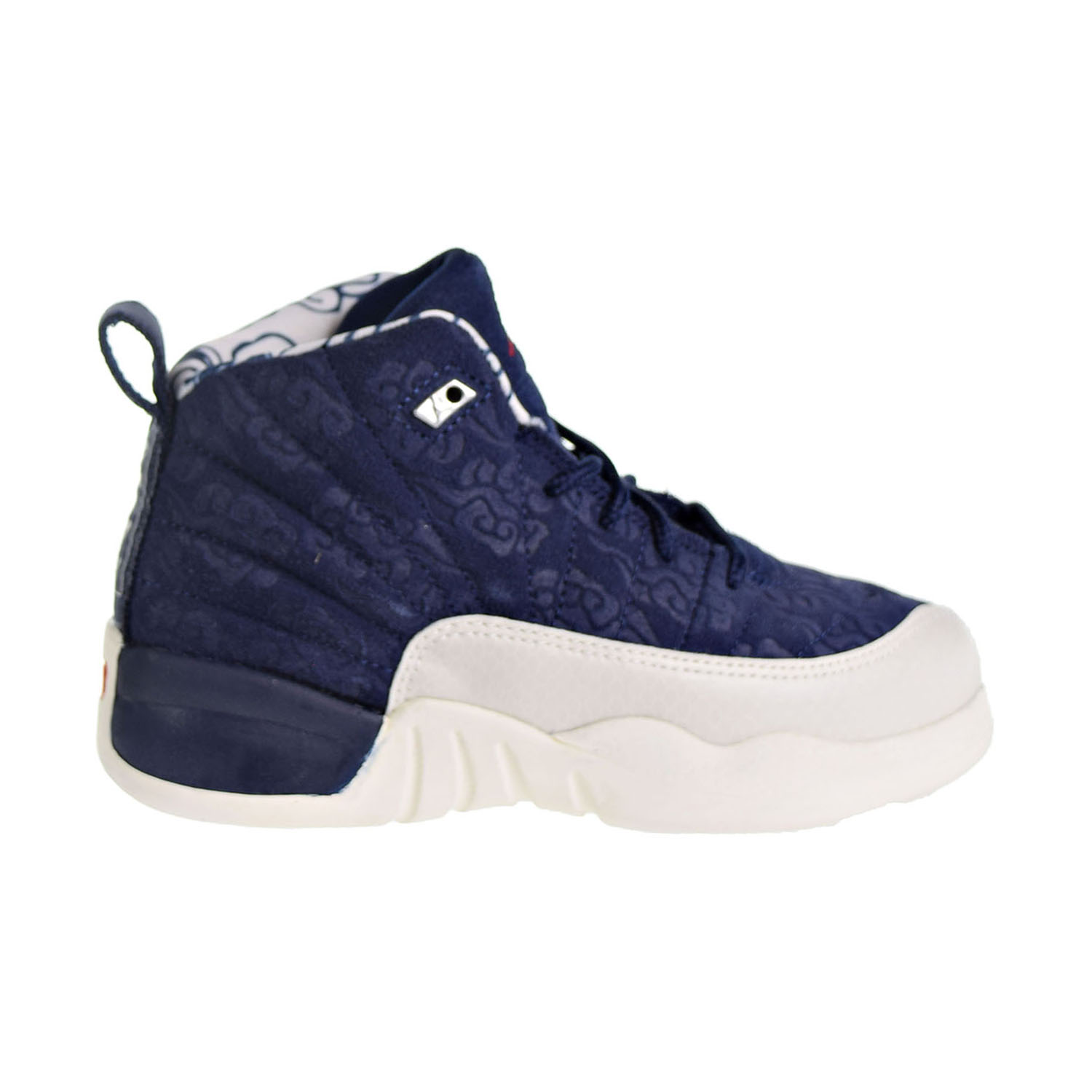 in stock edaa7 d59de Details about Jordan 12 Retro Premium Little Kid s Shoes Navy University  Red BV8018-445