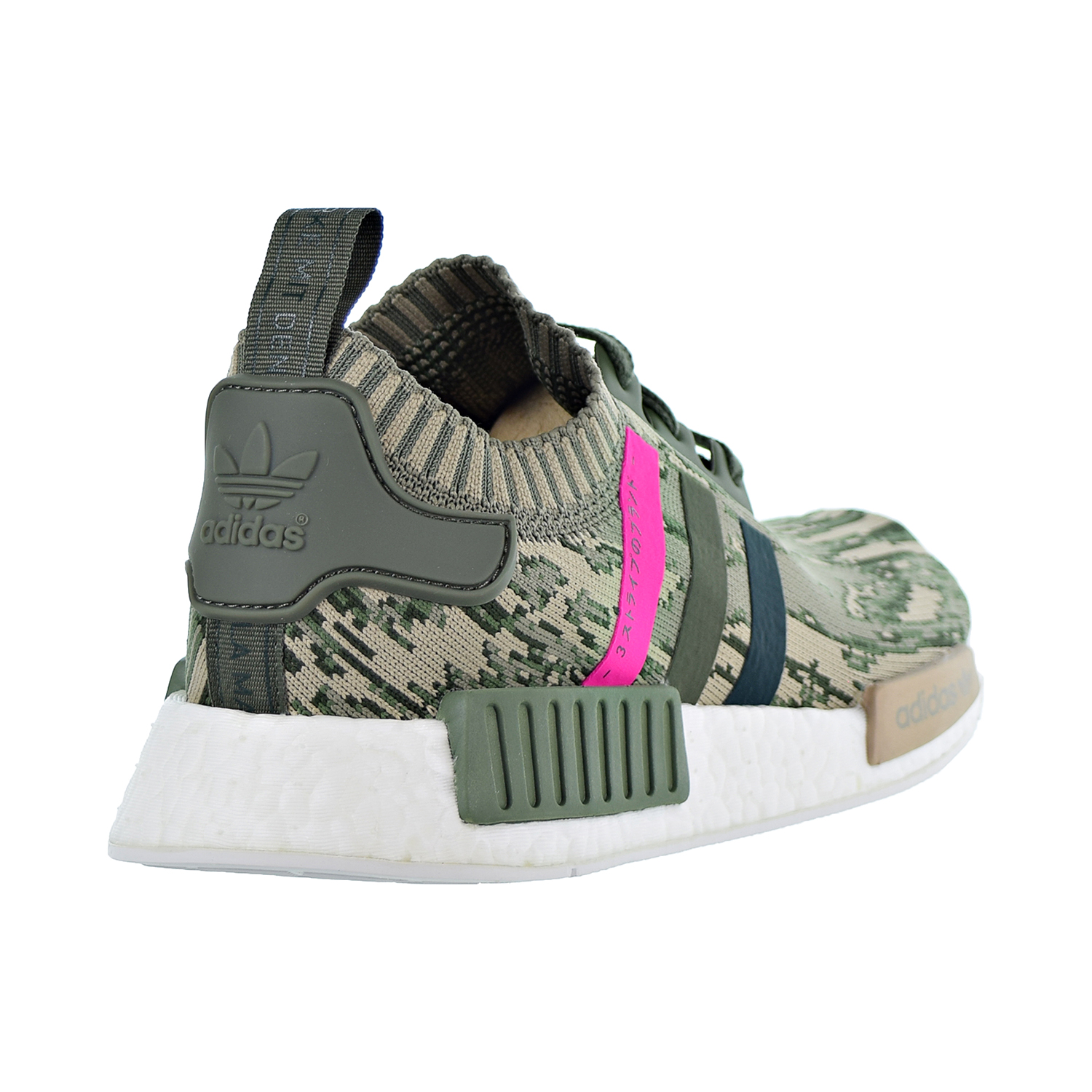 eef8c3142a9a9 Adidas NMD R1 Primeknit Women s Shoes Green Pink Green BY9864