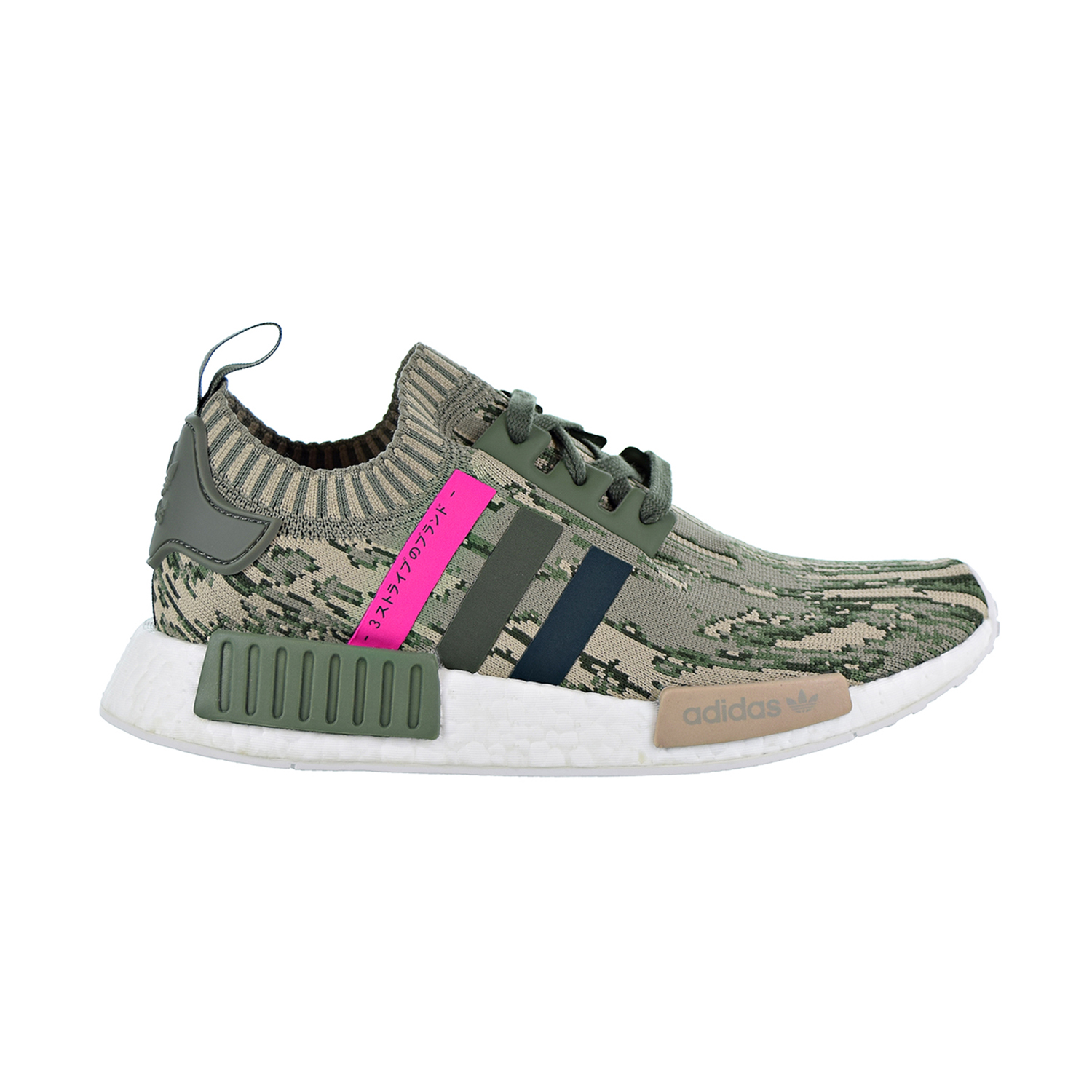 557ee7492 Adidas NMD R1 Primeknit Women s Shoes Green Pink Green BY9864